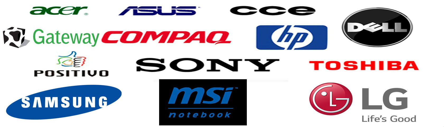 conserto notebook cce dell lg sony acer hp samsung asus